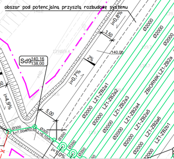 Retencja.plRetencja.pl – Zrealizowane projekty Projekt budowlany i wykonawczy zbiornika rurowego wód opadowych przy ulicy Topolowej w Lubinie